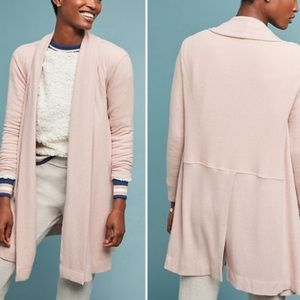 COA Blush Cozy Brushed Fleece Open Cardigan S